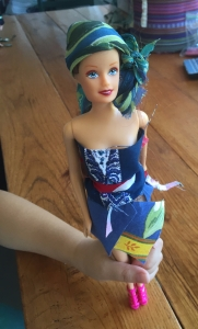 Barbie with hand-made clothes